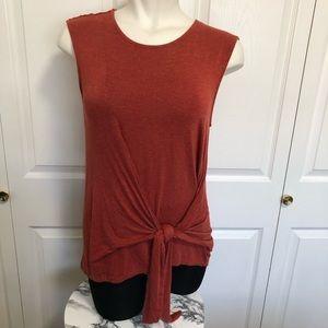 Vanessa Virginia Anthro rust colored twist & tie M